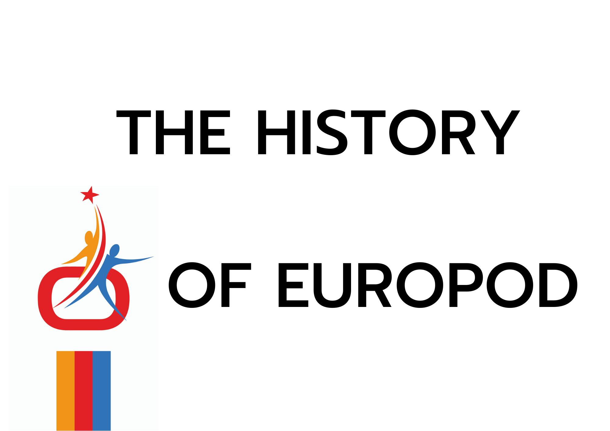 Site web Europod Histoire en anglais